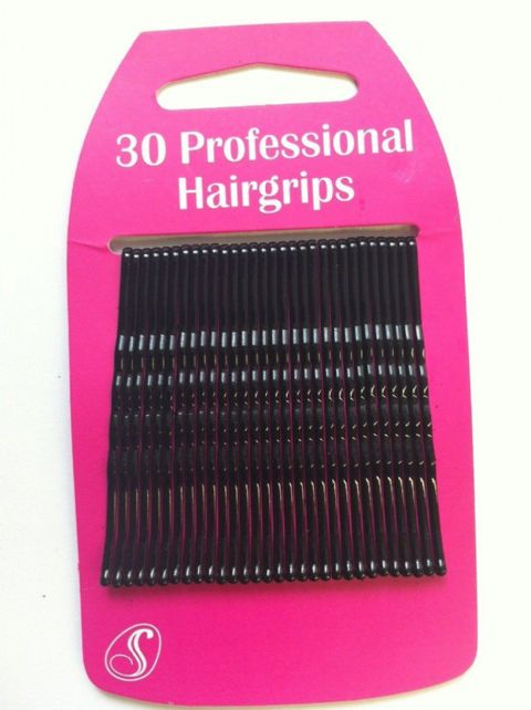 30 Professional Kirby Hair Grips (6cm) Black